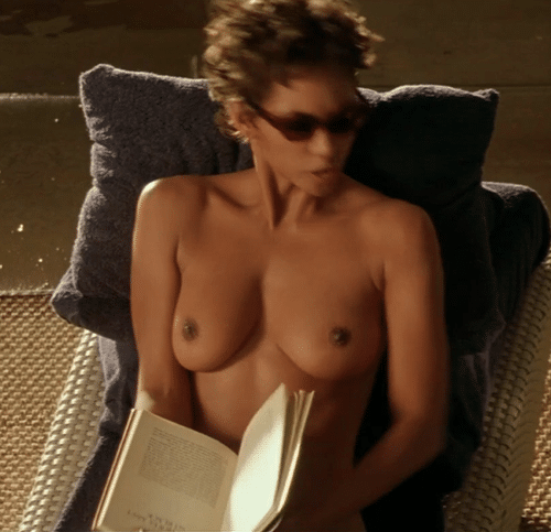 Toppless halle berry