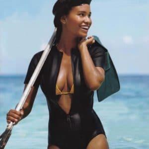 Joy Bryant snorkeling