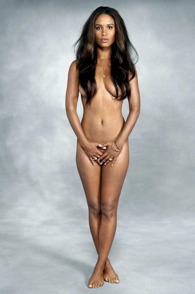 Joy Bryant nude for Harper's Bazaar