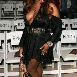 Lil Kim sexy black dress