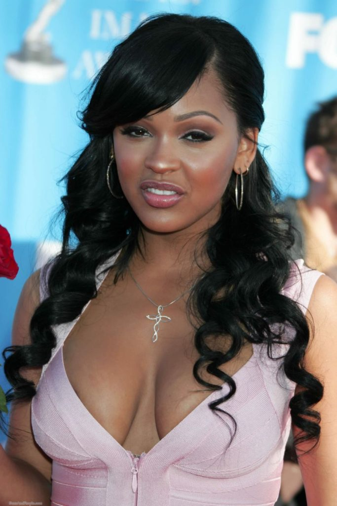 Meagan Good hot cleavage