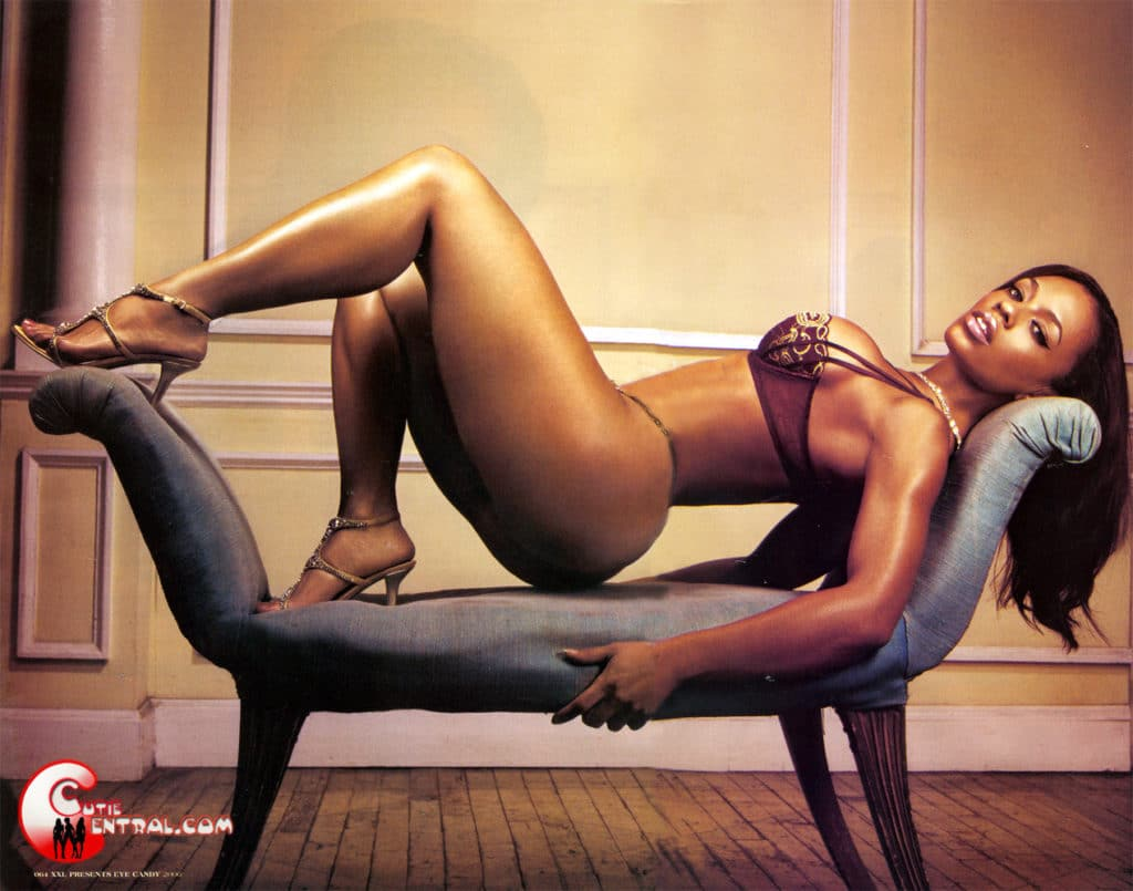 Melyssa Ford in heels spread