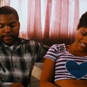 Nia Long with Ice Cube in the movie Friday