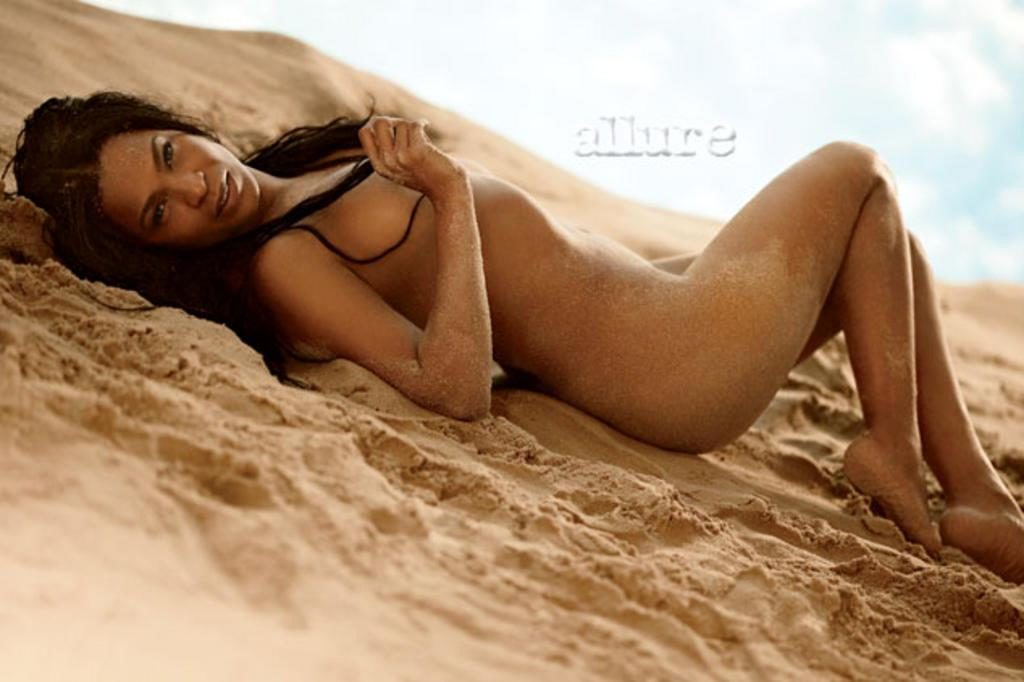 Nia Long naked for Allure