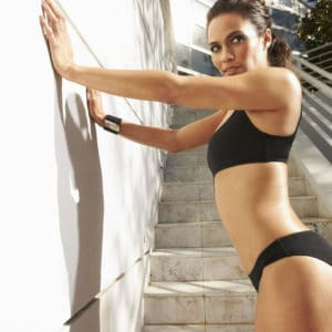 Paula Patton GQ against the wall