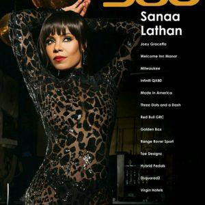 Sanaa Lathan 360 Magazine cover see-thru