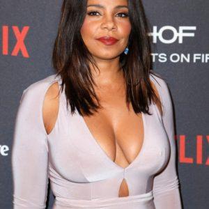Sanaa Lathan deep cleavage