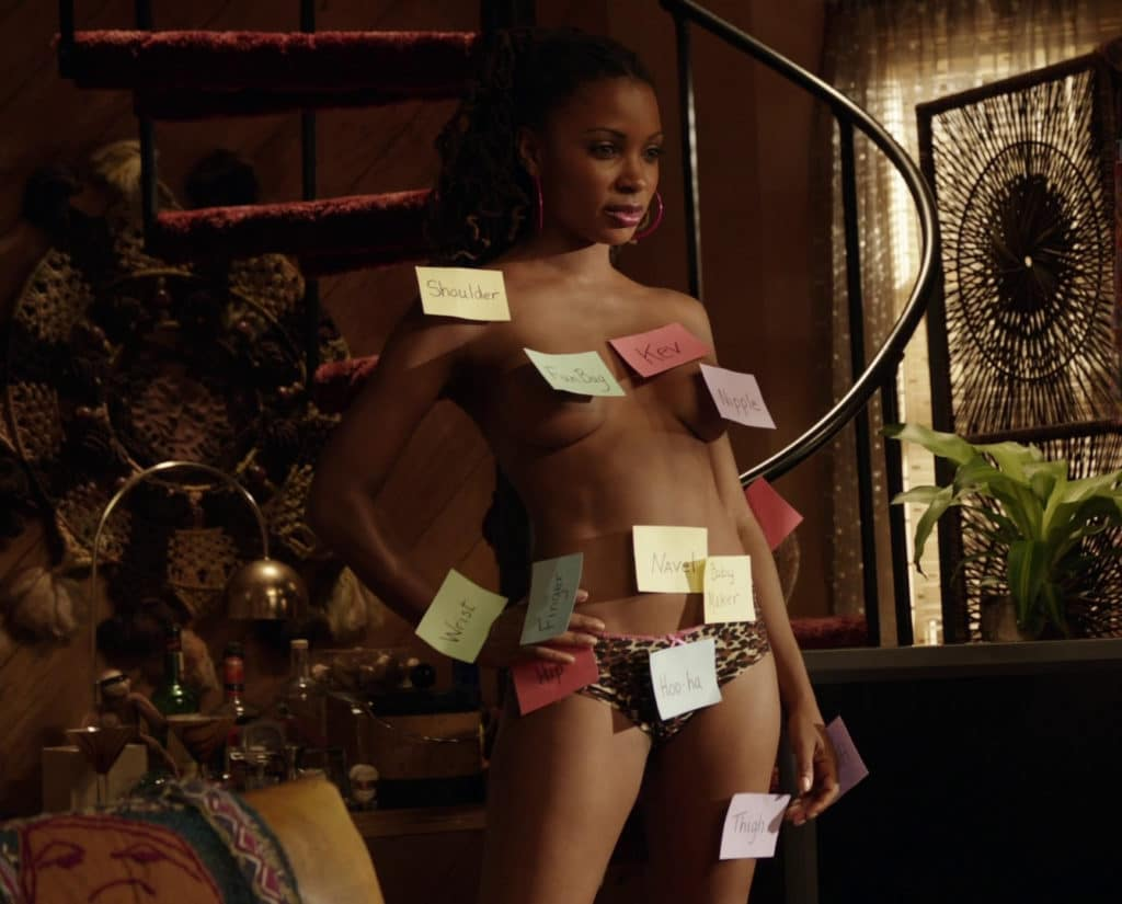 Shanola Hampton naked covered in sticky notes