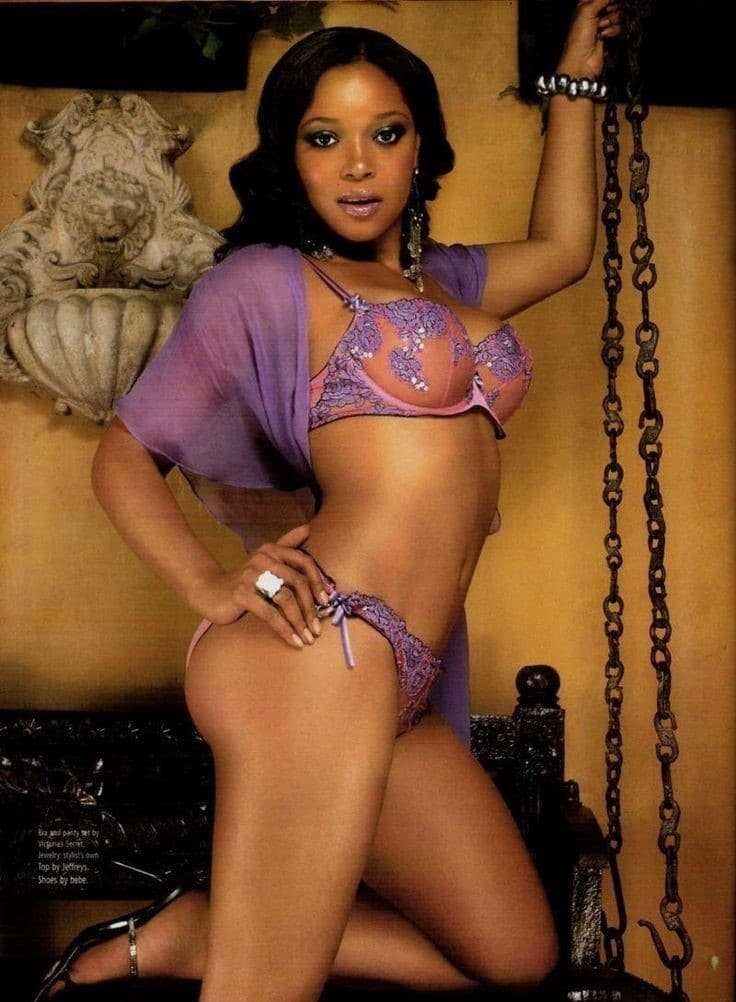 Tamala in purple lingerie