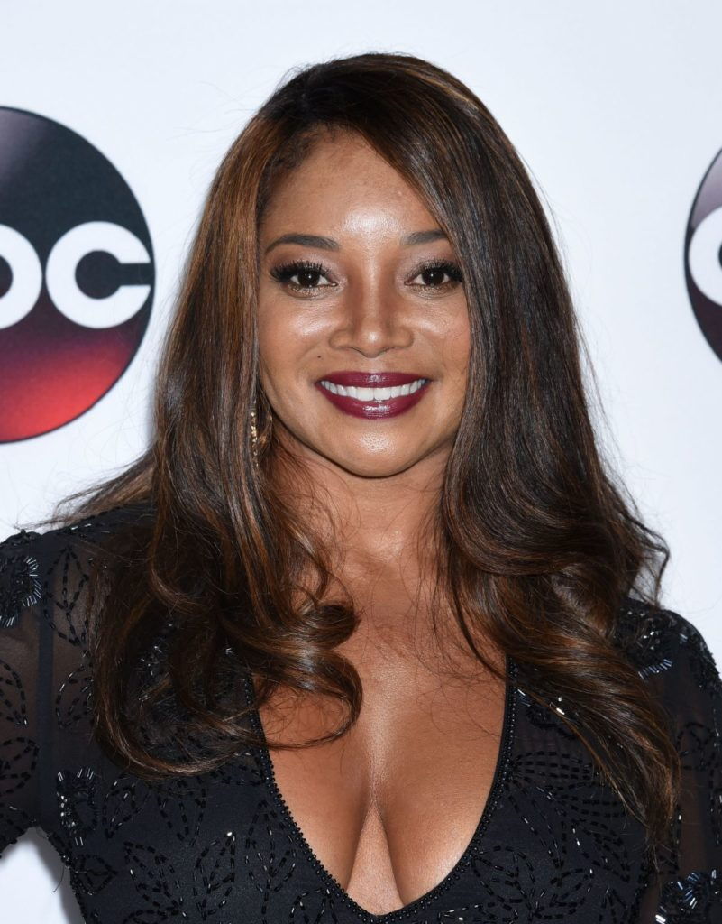 Tamala on red carpet showing off her cleavage