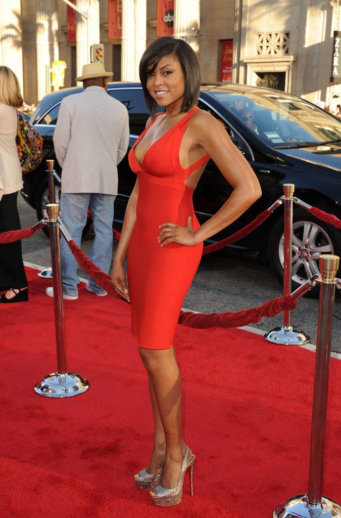 Taraji Henson curves in red dress