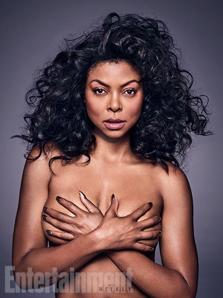 Taraji P. Henson topless for Entertainment Weekly photoshoot