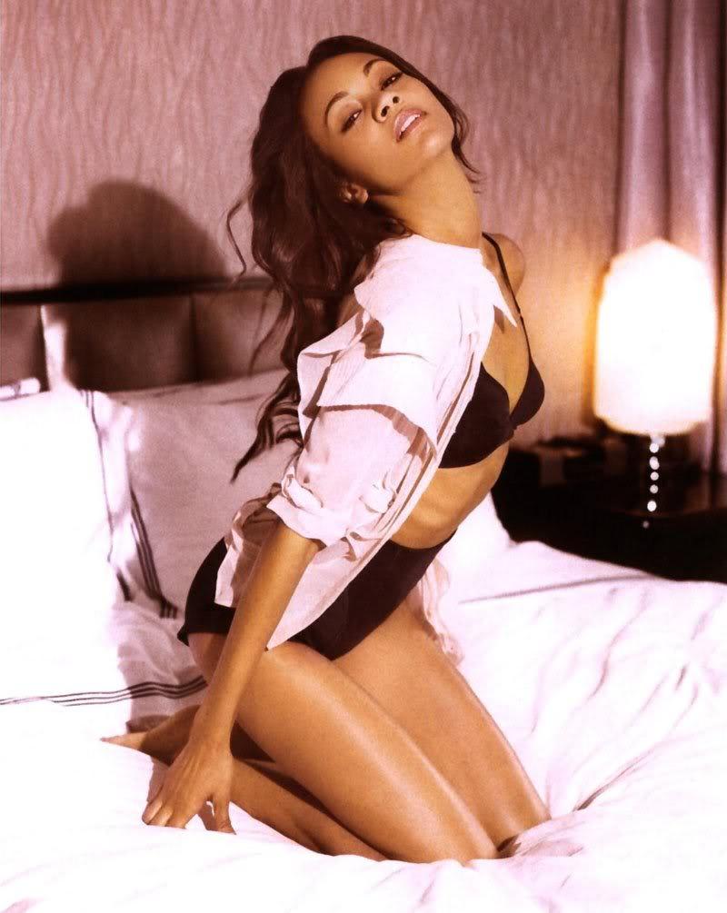 Zoe in lingerie