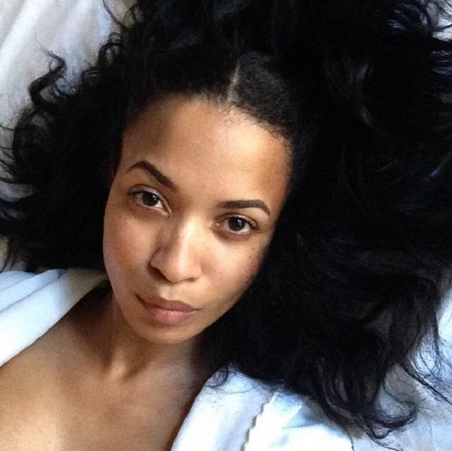 Karrine Steffans selfie in bed
