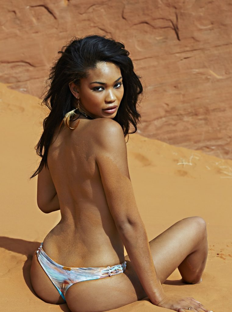 Chanel Iman's booty in Sports Illustrated