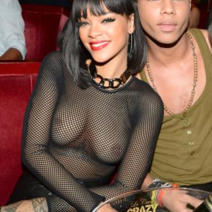 Rihanna see through black top (3)
