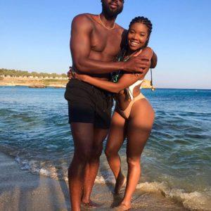 Gabrielle Union bikini with Dwayne Wade