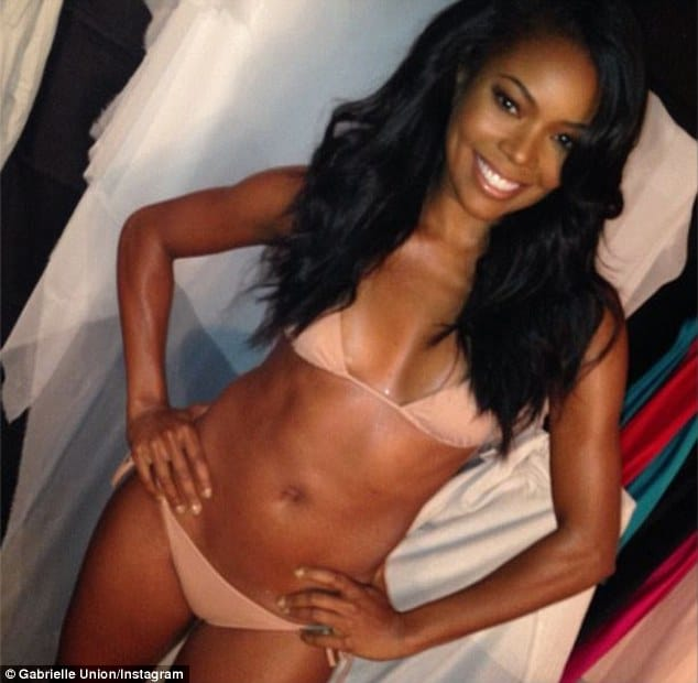Gabrielle Union in pink bikini instagram photo