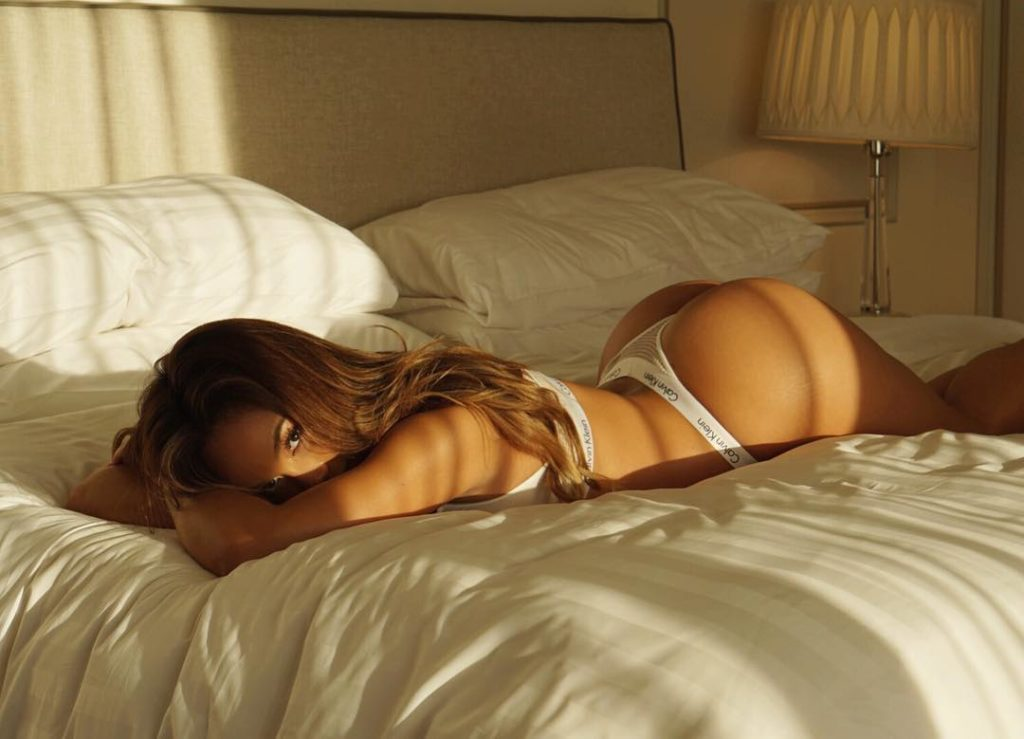 Daphne Joy in bed booty in the air