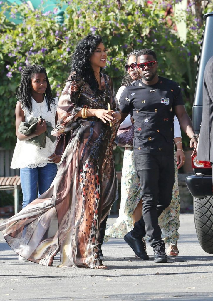 Eniko at her baby shower with Kevin