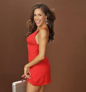 Meghan Marke in sexy red dress (6)